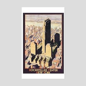 Rockefeller Center NYC Rectangle Sticker