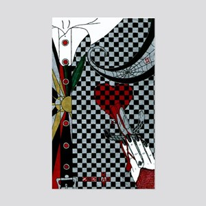 Lily of the Checkerboard Rectangle Sticker