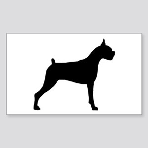 Boxer Dog Sticker (Rectangle)