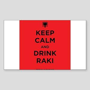 Keep Calm and drink raki Sticker (Rectangle)
