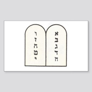 Ten Commandments [Decalogue] Rectangle Sticker
