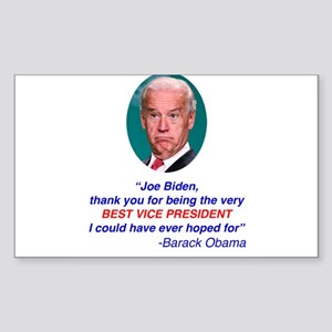 Joe Biden Best VP Collectible Sticker (Rectangle)