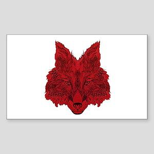 SEEING RED Sticker