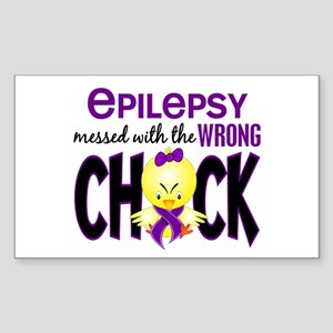 Epilepsy Messed With the Wrong Chick Sticker (Rect