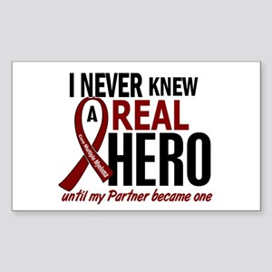 Multiple Myeloma Real Hero 2 Sticker (Rectangle)