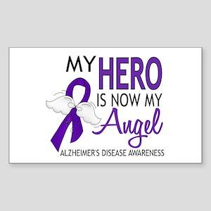 Alzheimers Hero Now My Angel Sticker (Rectangle)