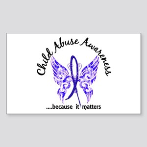 Child Abuse Butterfly 6.1 Sticker (Rectangle)