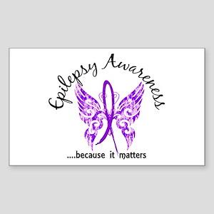 Epilepsy Butterfly 6.1 Sticker (Rectangle)