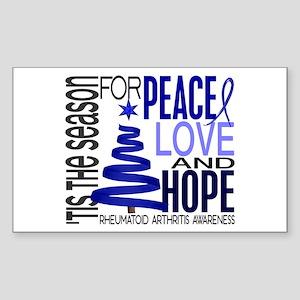 Christmas 1 Rheumatoid Arthritis Sticker (Rectangl