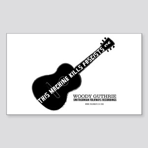 Woody Guthrie Rectangle Sticker