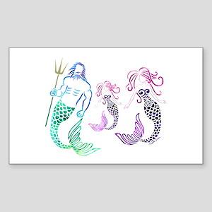 Mystical Mermaid Family Sticker
