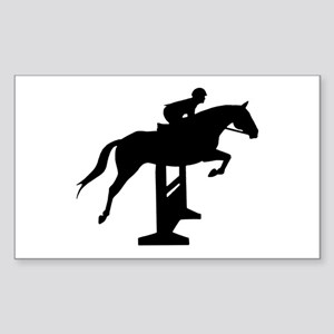 Hunter Jumper Over Fences Sticker (Rectangle)