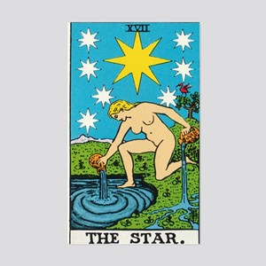 THE STAR TAROT CARD Sticker (Rectangle)