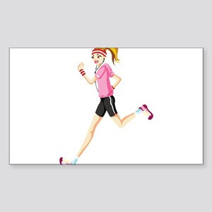 Running sport girl Sticker