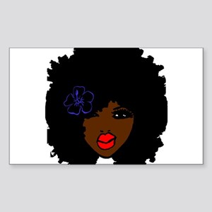 BrownSkin Curly Afro Natural Hair???? Pink Sticker