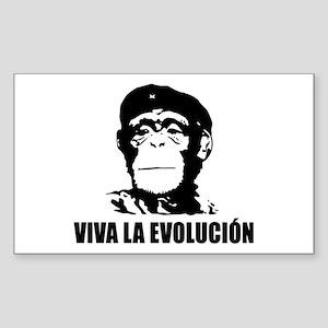 Viva La Evolucion Rectangle Bumper Sticker
