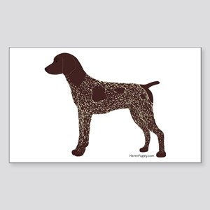 German Shorthaired Pointer Sticker (Rectangle)