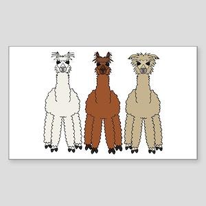 Alpaca (no text) Sticker (Rectangle)