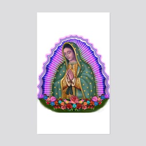 Lady of Guadalupe T4 Sticker (Rectangle)