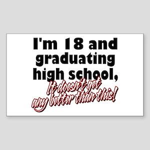 I'm Eighteen Rectangle Sticker