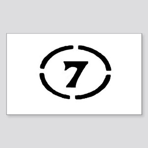 circle 7 black Sticker