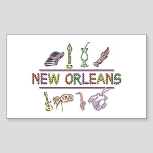 New Orleans Sticker (Rectangle)
