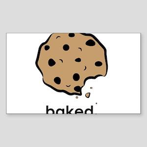 Baked. Sticker (Rectangle)