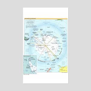 Antarctic Antarctica Map Rectangle Sticker