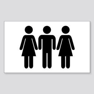 Threesome Sticker (Rectangle)
