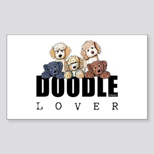 Doodle Lover Sticker (Rectangle)