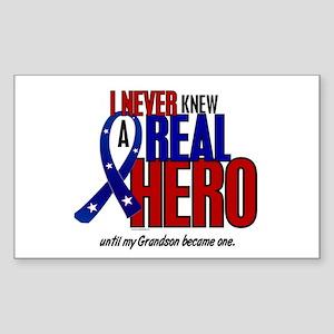 Never Knew A Hero 2 Military (Grandson) Sticker (R
