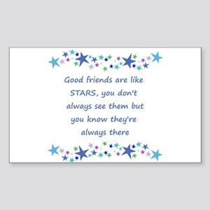 Good Friends are like Stars Inspirational Quote St