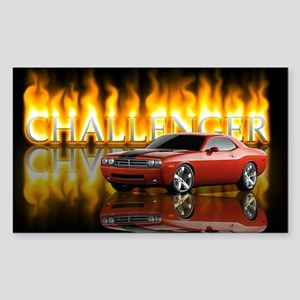 dodge chall Sticker (Rectangle)