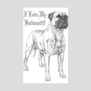THE Bullmastiff Rectangle Sticker
