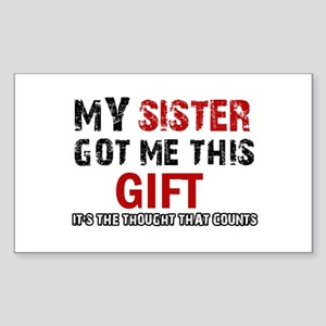 Cool Sister Designs Sticker (Rectangle)
