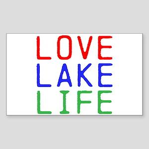 LOVE LAKE LIFE (TW) Sticker (Rectangle)