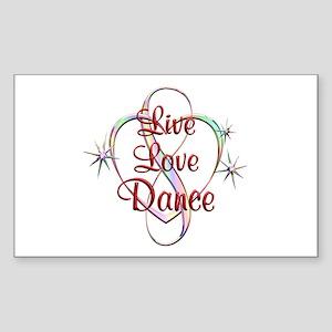 Live Love Dance Sticker (Rectangle)