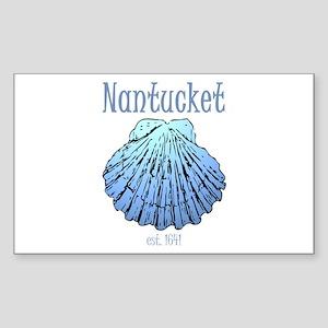 Nantucket Est. 1641 Scallop Shell Sticker