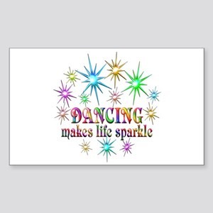 Dancing Sparkles Sticker (Rectangle)