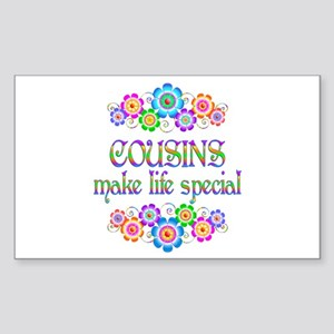 Cousins Make Life Special Sticker (Rectangle)