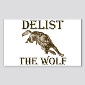 DELIST THE WOLF Rectangle Sticker