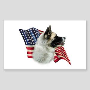 Akita Flag Rectangle Sticker