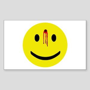 Dead Smiley Rectangle Sticker