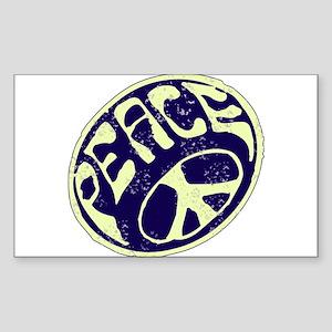 Vintage Peace Symbol #V9 Rectangle Sticker