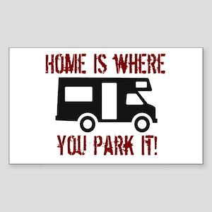 Home (RV) Rectangle Sticker