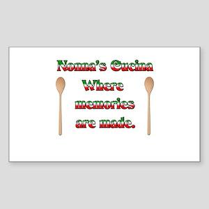 Nonna's (Italian Grandmother) Cucina Sticker (Rect