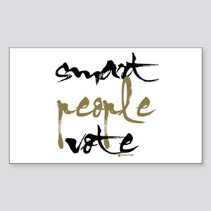 Smart People Vote Rectangle Sticker