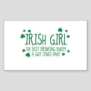 Irish Girl Rectangle Sticker