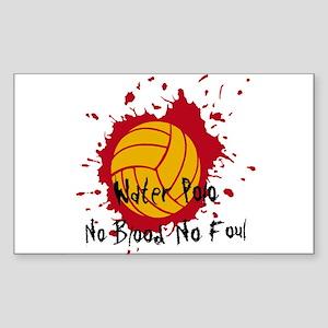 No Blood No Foul Sticker (Rectangle)
