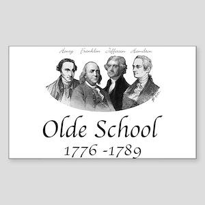 Olde School Rectangle Sticker